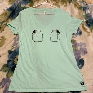 Ideal T by next level Green milk jug t-shirt